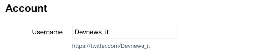 come cambiare username o nome utente su twitter senza perdere follower