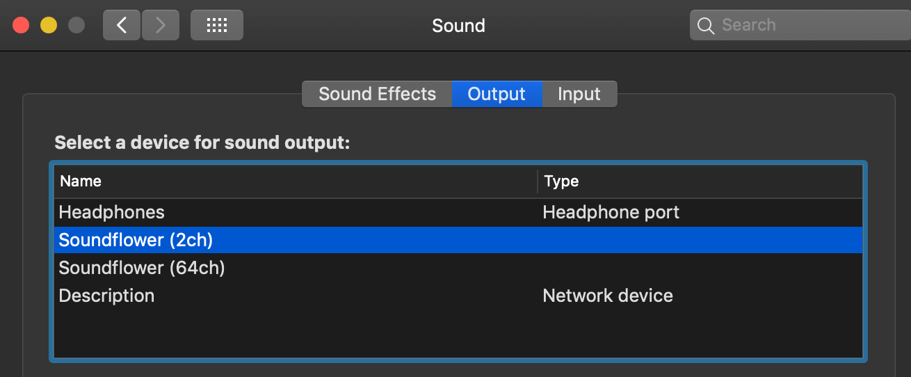come catturare output audio di un mac e salvarlo in un file mp3