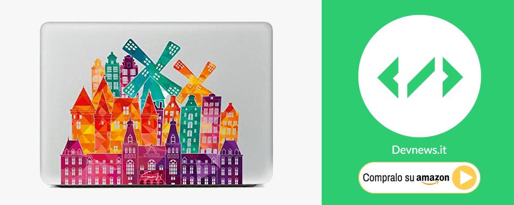 idea regalo per programmatori informatici nerd: adesivo computer portatile macbook
