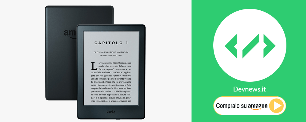 idea regalo per natale: kindle ebook reader