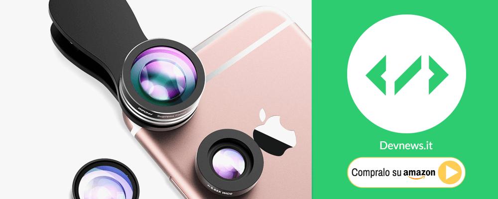 idee regalo natale: lenti per telecamera iPhone