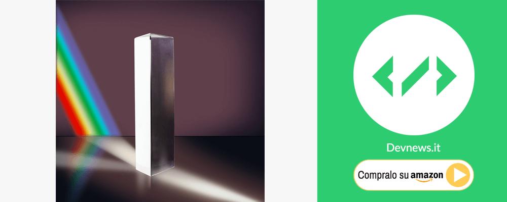 regalo di natale per nerd e fisici, prisma spettro luce
