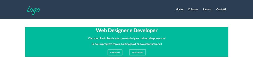 come creare un banner header con codice HTML e CSS guida frontend developer