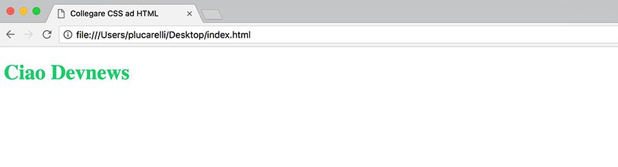 come collegare o linkare un file css ad un file html per dare stile